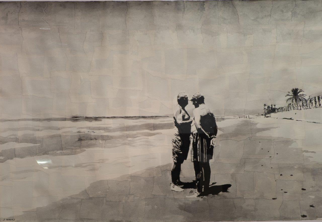 Hombres hablando al lado del mar (2018) - Sebastián Navas