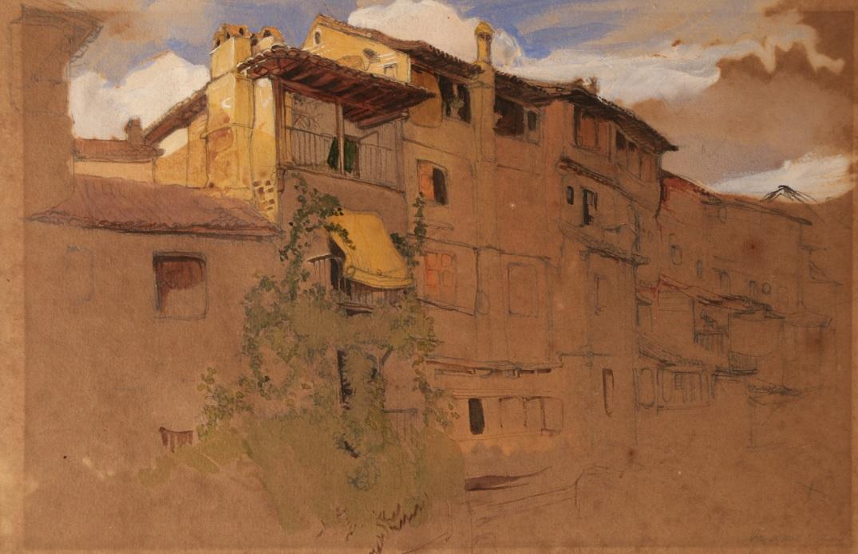 Granada, Casas del Darro (1833) - John Frederick Lewis R.A.