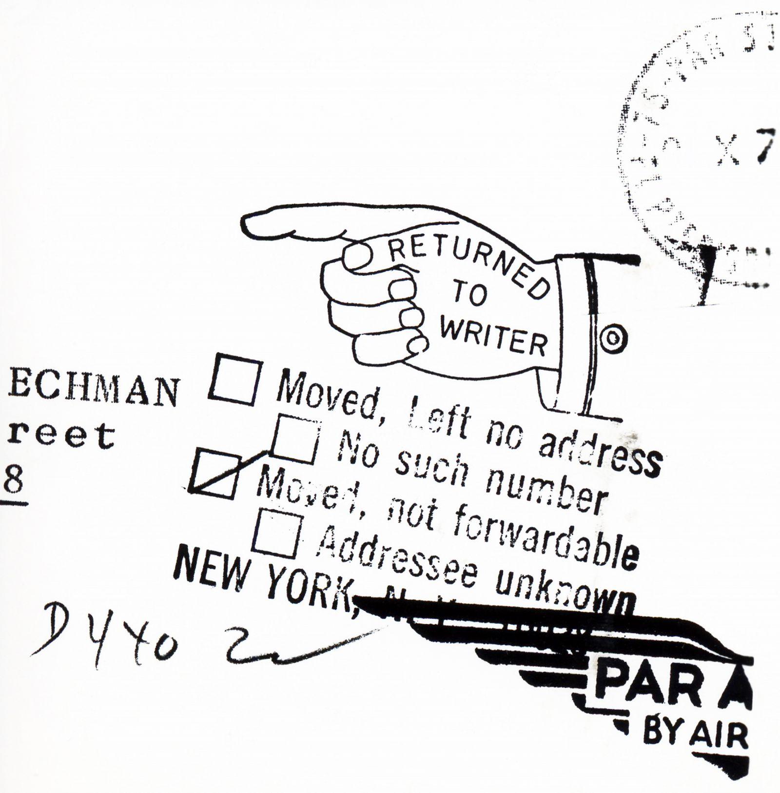 Returned to Writer (Serie Mass Media) (1972) - Joan Rabascall