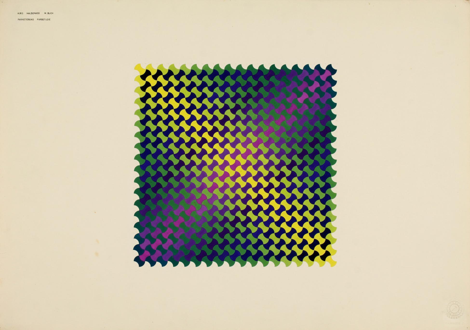 Parketierung Farbstudie (1957) - Monika Buch