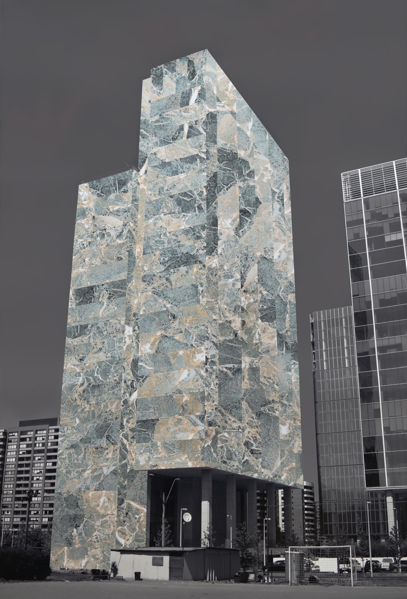 Proyecto Arquitecturas Revestidas Para La Ciudad De Santiago; Edi Cio #8, [Ed. 3 + 1 P.A.] (2008) - Patrick Hamilton