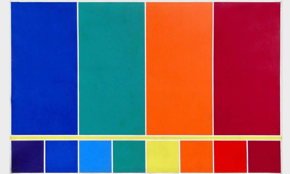 Estructura De La Luz. Del Violeta Al Magenta. 4 Colores Binarios (1985) - Waldo Balart