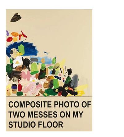 Composite photo of two messes on my studio floor