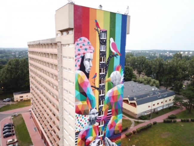Okuda San Miguel (Lodz, Polonia)