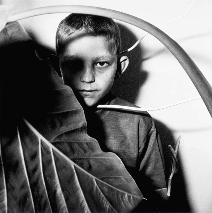 Study of Boy and Plant (1999) - Roger Ballen