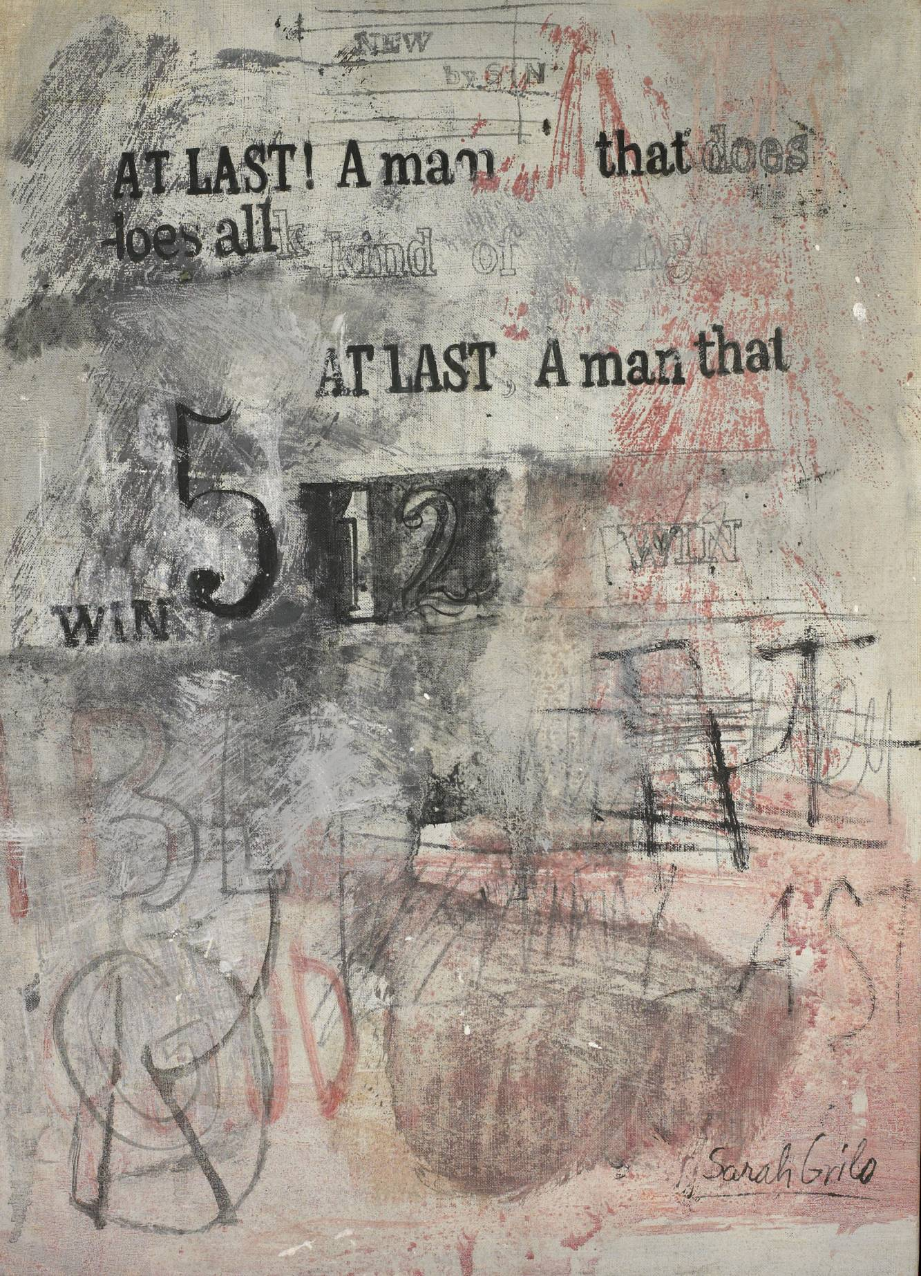 At last a man (1965) - Sarah Grilo