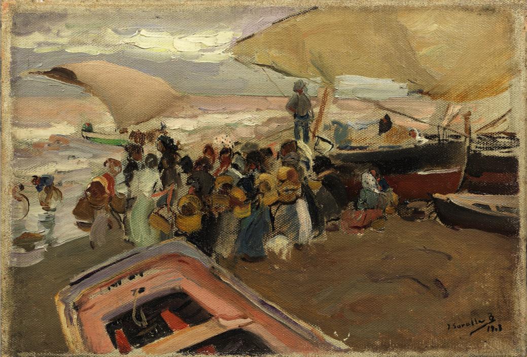 Vuelta de la pesca (1908) - Joaquín Sorolla