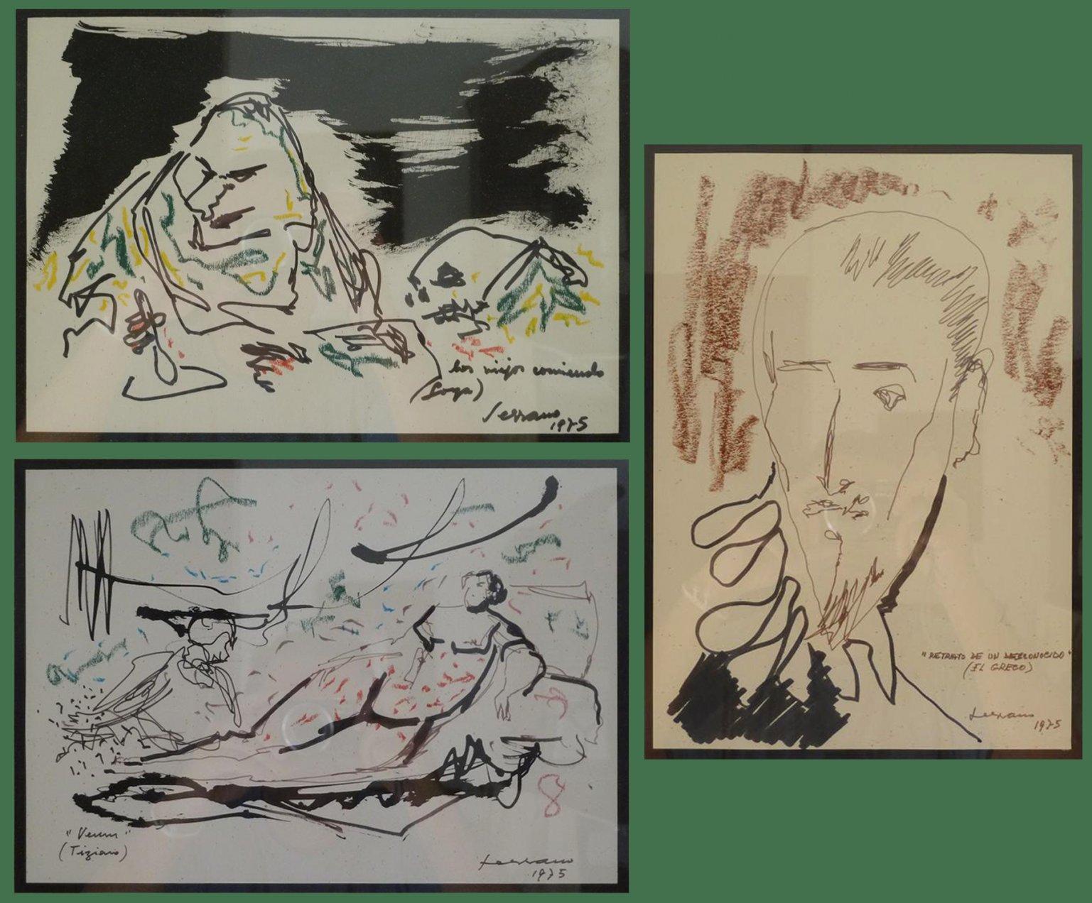 Dibujos (Goya, Greco, Tiziano) (1975) - Pablo Serrano