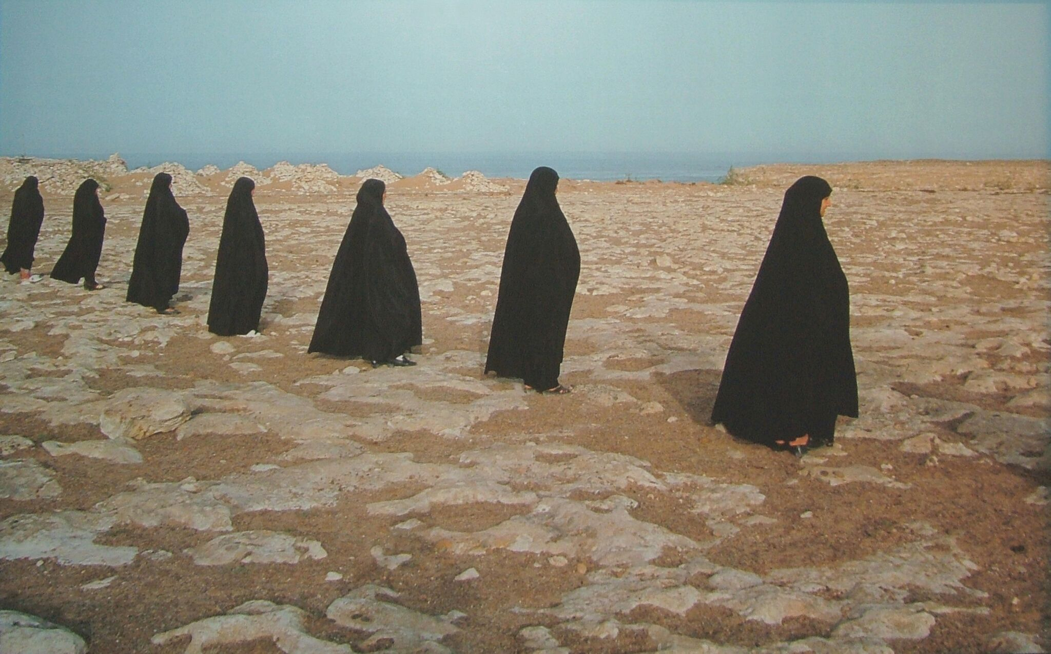 Rapture series (Women in a line) (1999) - Shirin Neshat
