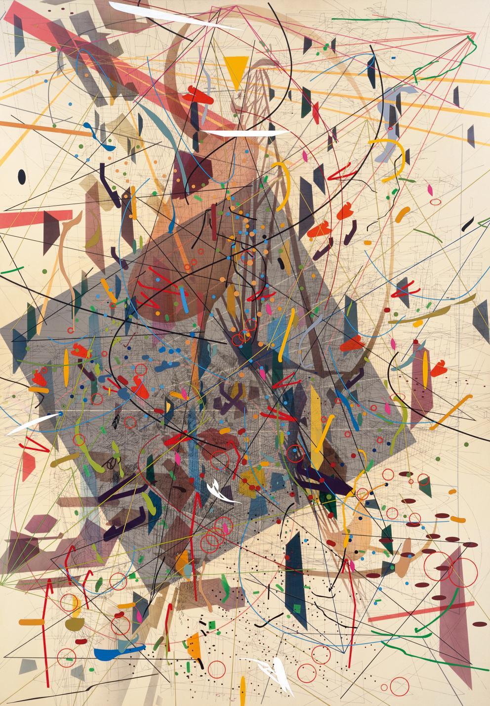 Zero Canyon (A Dissimulation) (2006) - Julie Mehretu