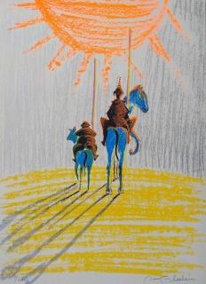 Obra de Ouka Leele perteneciente al Libro de Bibliofilia MI DON QUIJOTE de OUKA LEELE