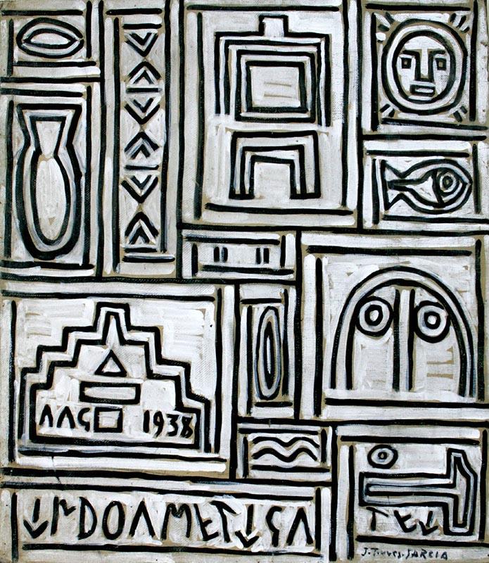 Grafismo Magico (Magic Graphism) (1938) - Joaquín Torres-Garcia