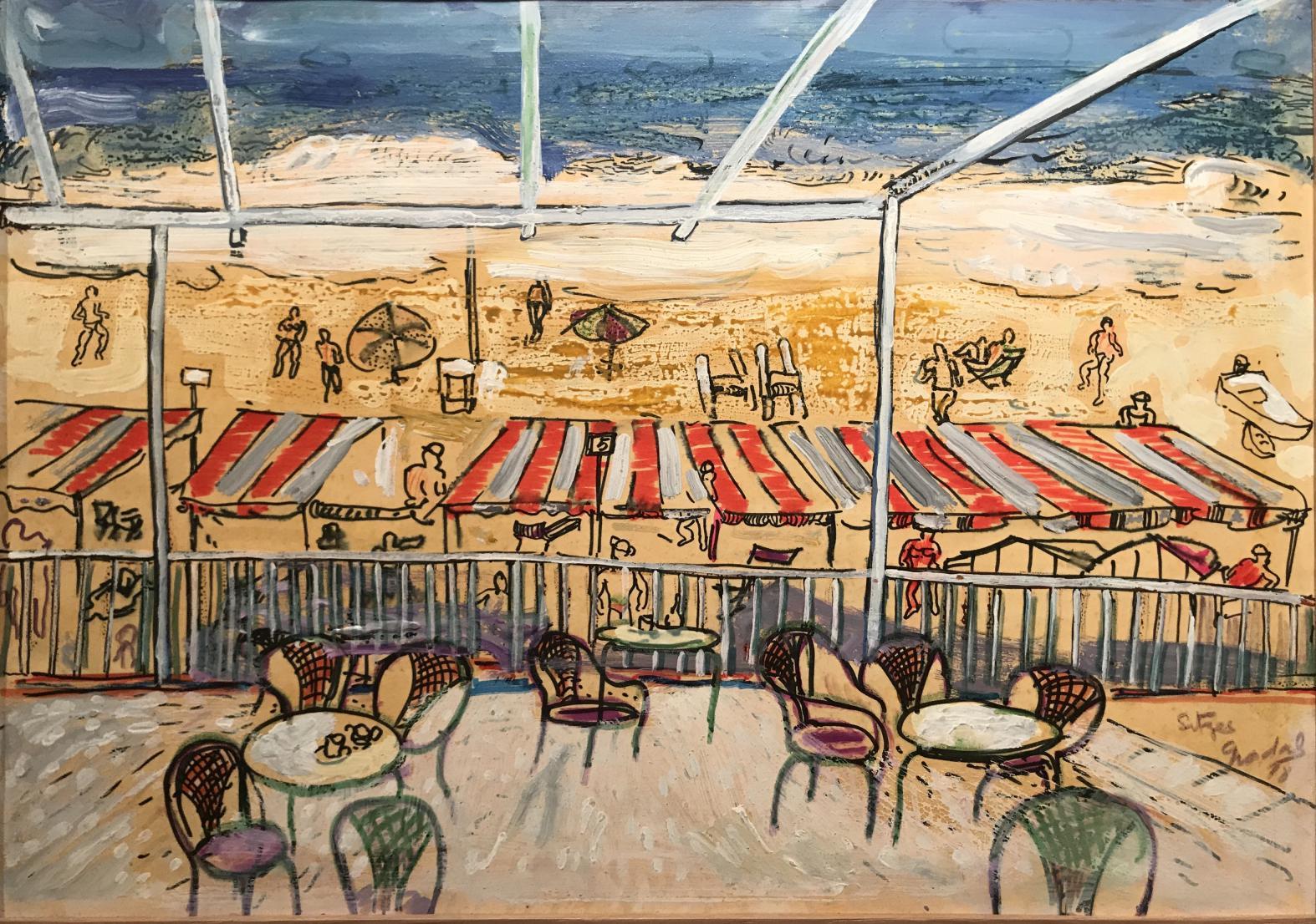 Playa de Sitges (1980) - Carlos Nadal Ferreres