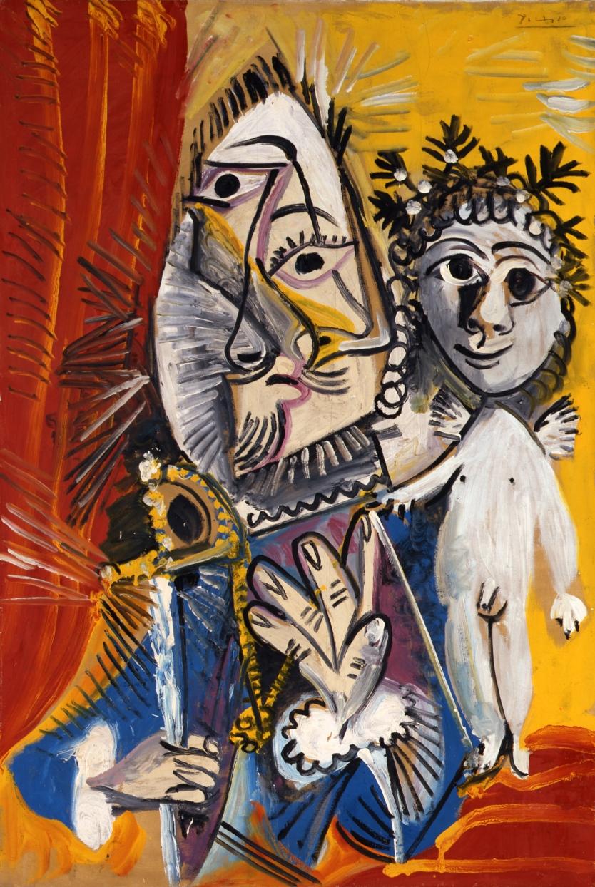 Mosquetero con espada y amorcillo (1969) - Pablo Picasso