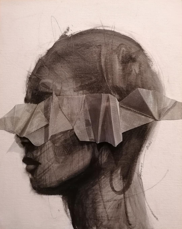 """""""Geometría est imago XXV"""".  (Retrato con geometría XXV) (2020) - Roger Sanguino"""
