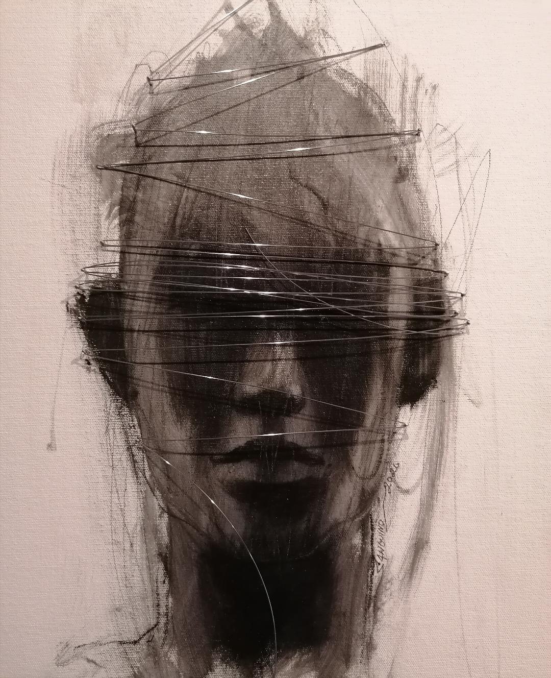"""Geometría est imago XXVII"". (Retrato con geometría XXVII) (2020) - Roger Sanguino"