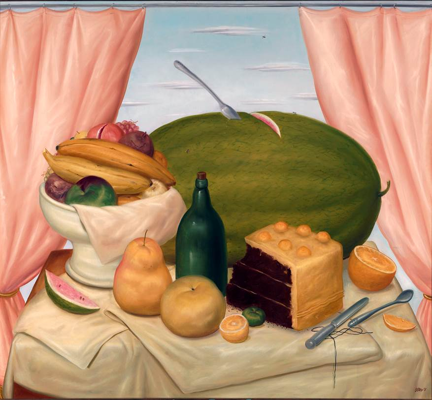 Still-life with Watermelon (1973) - Fernando Botero