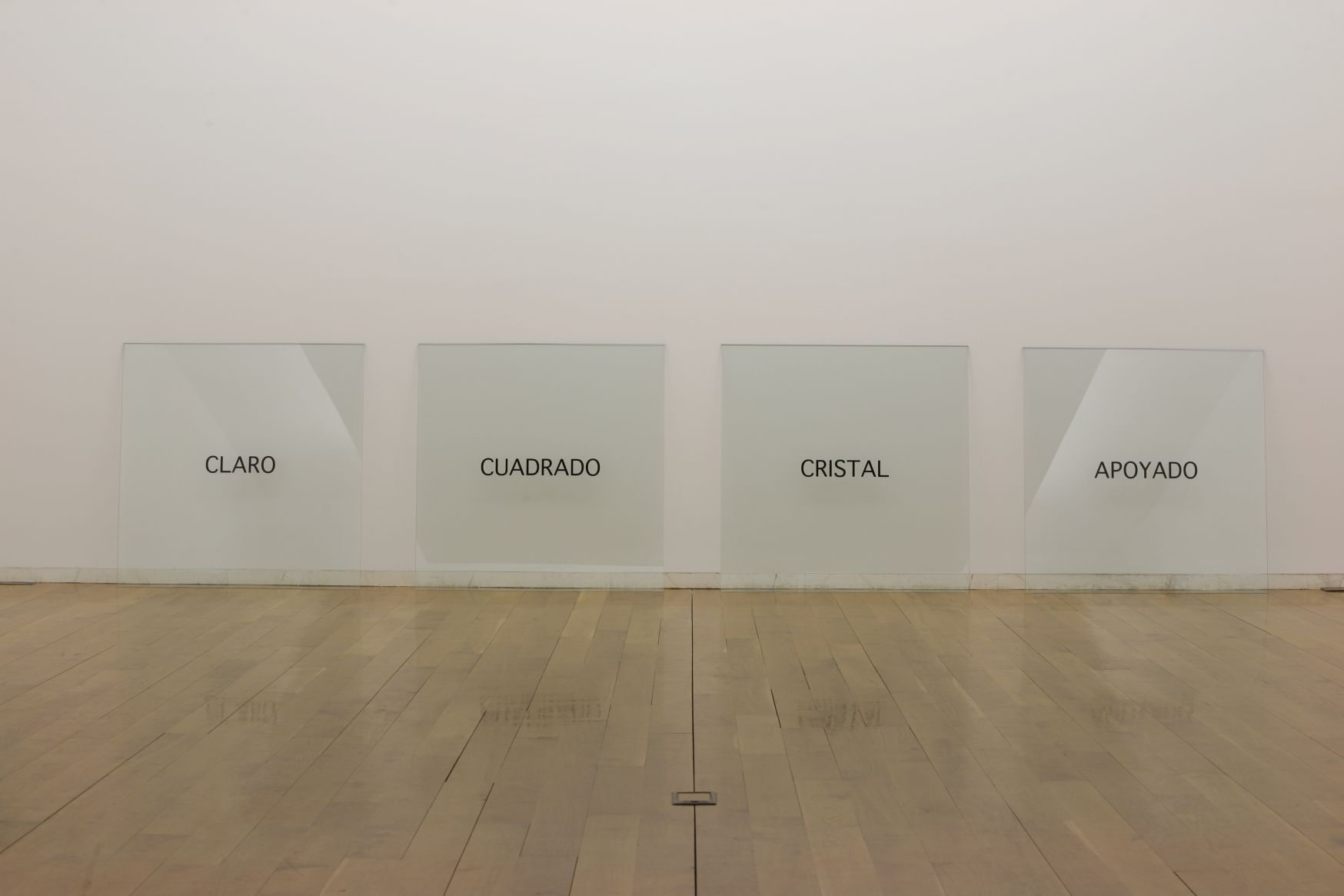 Claro, cuadrado, cristal, apoyado (1965) - Joseph Kosuth
