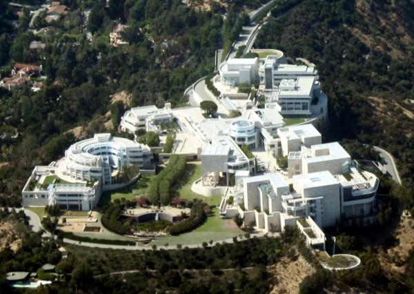 Vista aérea del J. Paul Getty Museum