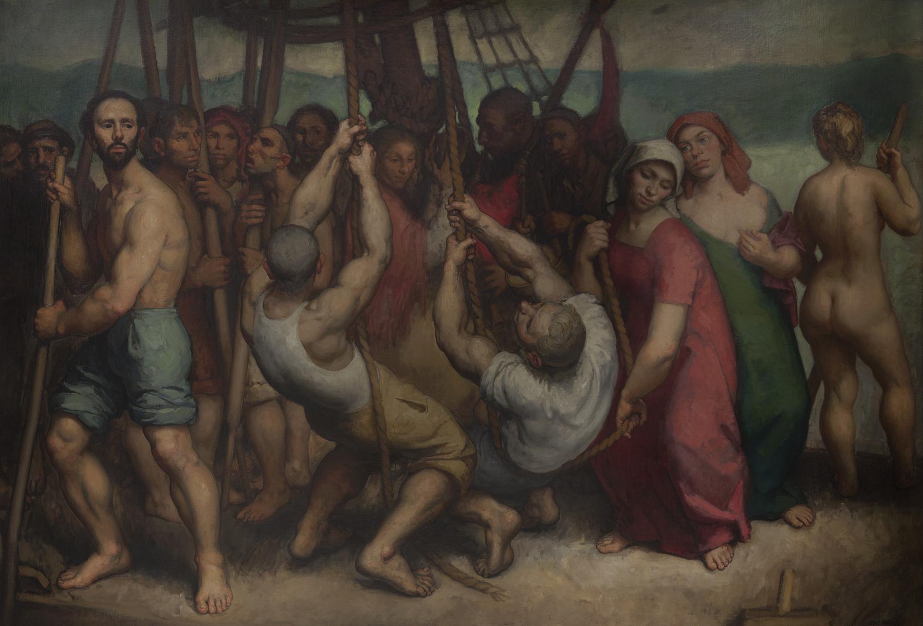 A barca de Caronte (1947) - Isaac Díaz Pardo