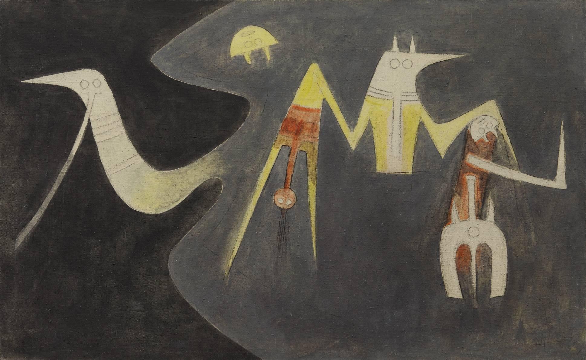 Composition (Oiseaux dans la nuit) (1969) - Wifredo Lam