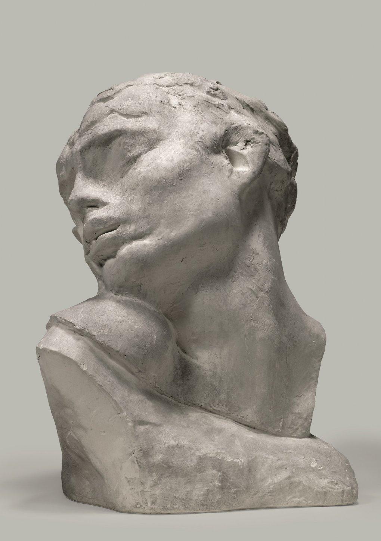 Tête de la luxure, grand modèle [Cabeza de la lujuria, modelo grande] (1907) - Auguste Rodin