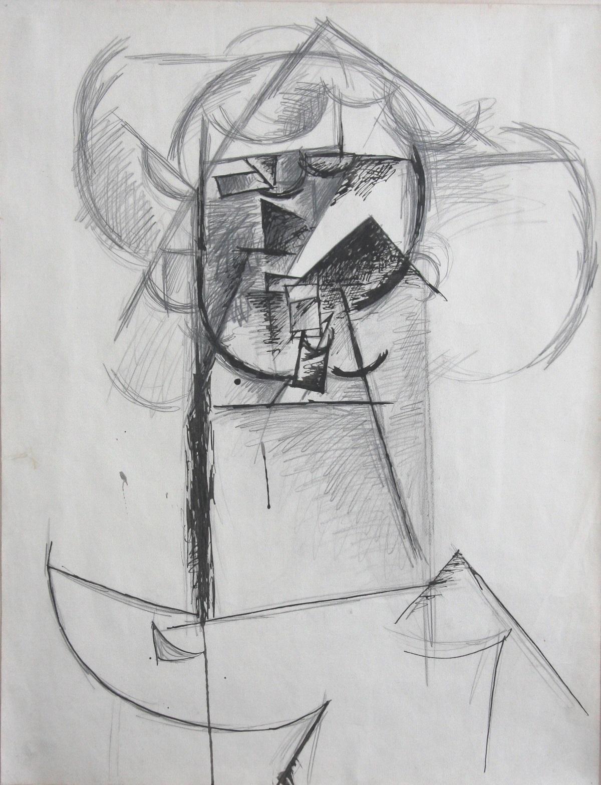 Mademosielle Léonie (Etude) (1910) - Pablo Picasso
