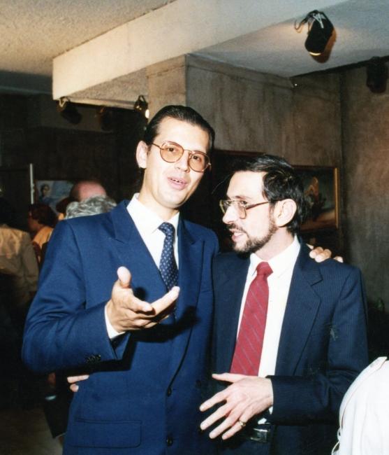 Fundadores del Círculo de Críticos: Juan Carlos Flores Zuñiga y Alberto Ycaza