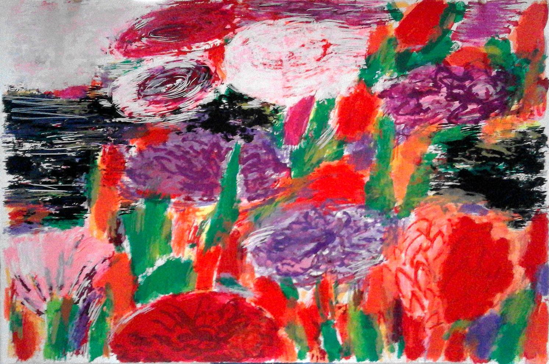 Flores para Soñar, Obra Gráfica Original de Willy Ramos