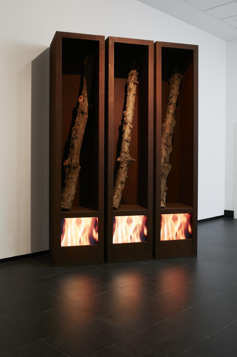 Foresta di fuoco (2000) - Fabrizio Plessi