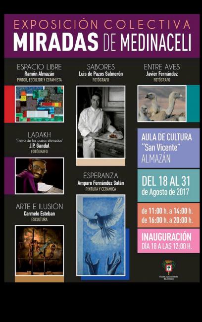 Exposición colectiva en el Aula de Cultura de Almazán