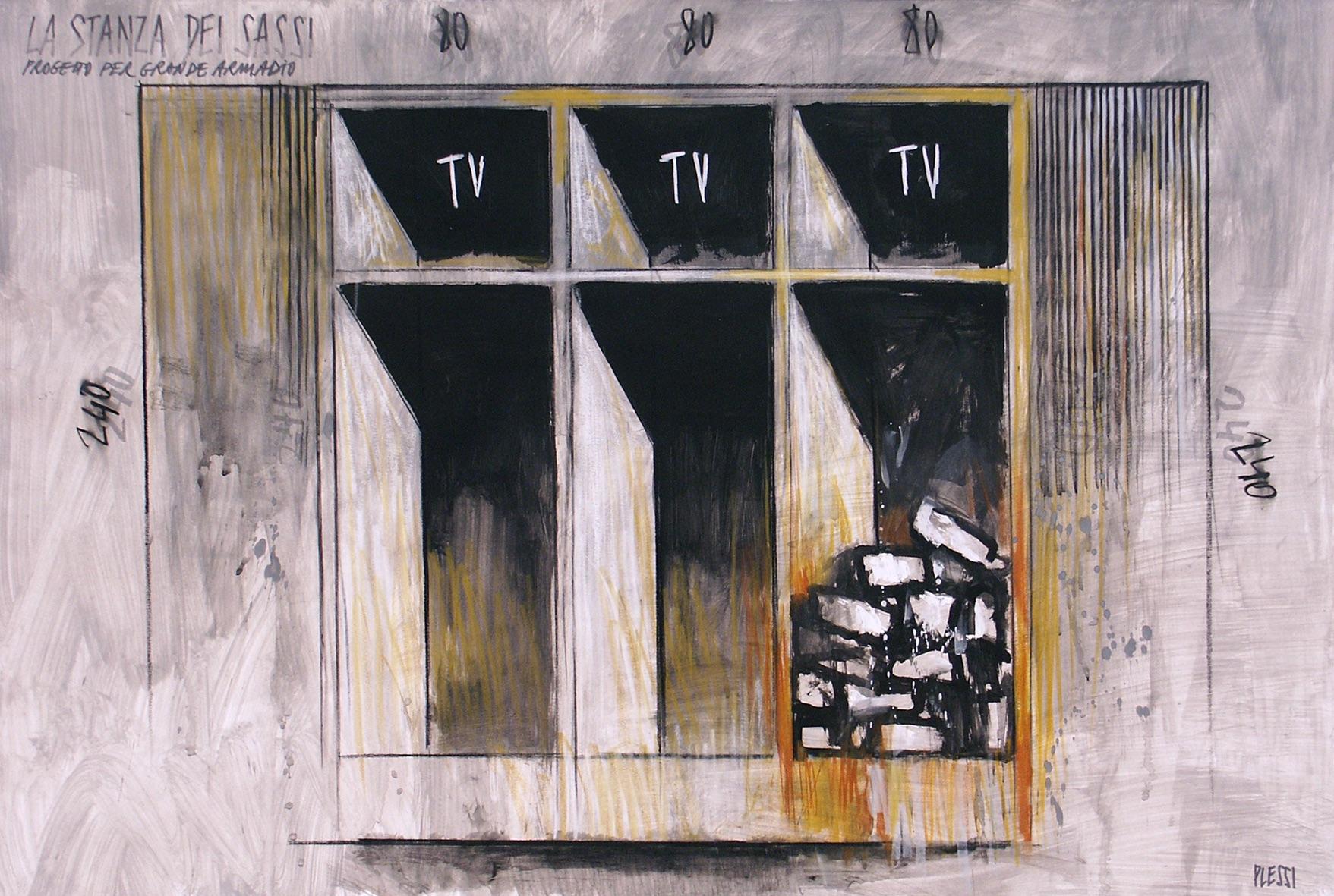 La stanza dei Sassi (1989) - Fabrizio Plessi