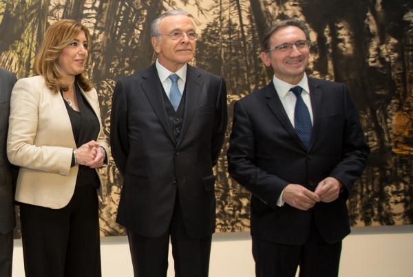 CXF Sevilla- Susana Díaz, Isidro Fainé, Jaume Giró