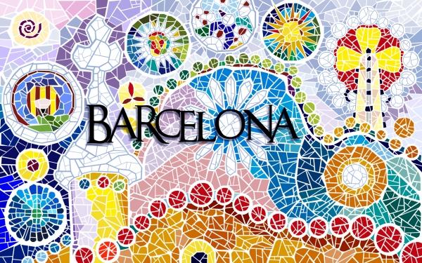 "Diseño \""Símbolos de Gaudí\"" para souvenirs Amazonik (Barcelona)"