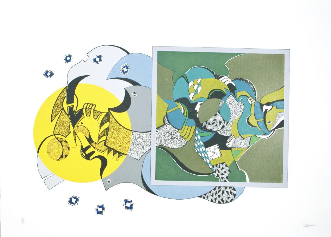 Silencio y cosmos (amarillo) (2003) - Luis Arias Vera