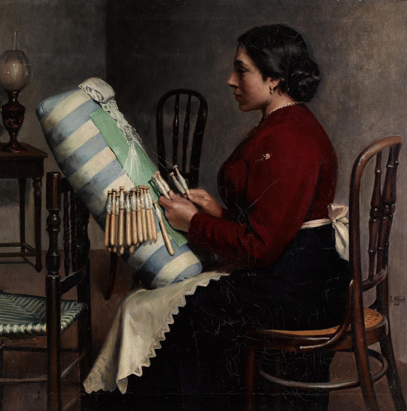 Mujer haciendo bolillos (2020) - José Albiol Lopez