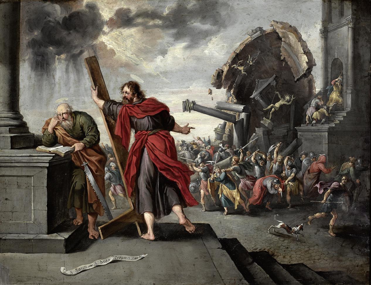 El martirio de san simón y san Judas Tadeo | Guillermo Forchondt