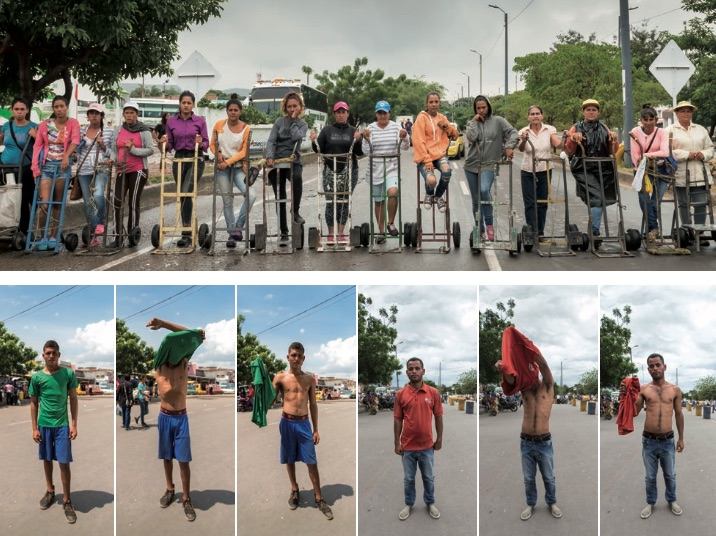 Dos acciones sobre el puente internacional Simón Bolívar: Carretilleras y La entrega (2018) - Teresa Margolles