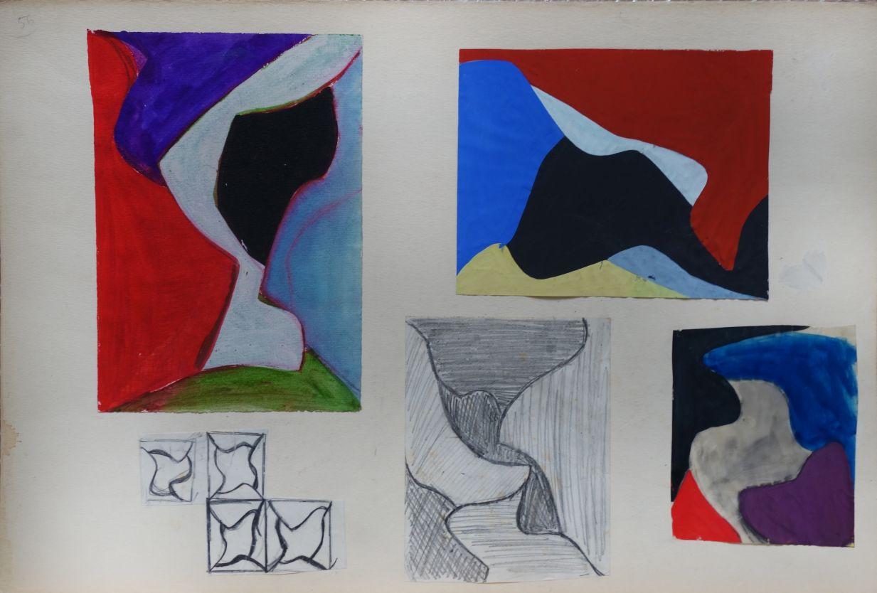 Sin título. Dibujos preparatorios 1959-1961 (1959) - Equipo 57
