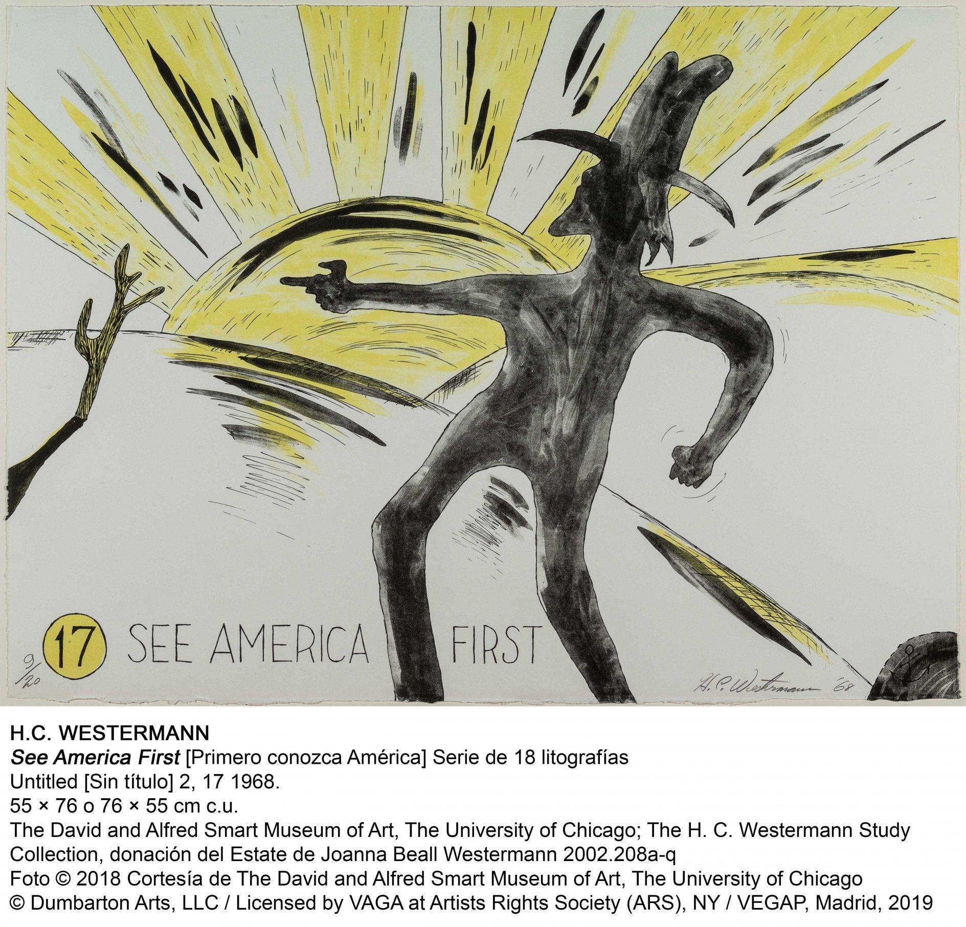 See America First (Primero conozca América) / Untitled [Sin título] 2, 17 (1968) - Horace Clifford Westermann
