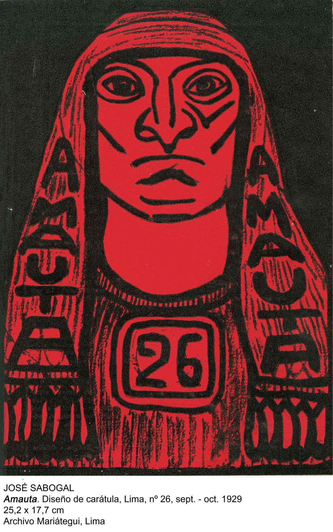 Amauta. Diseño de carátula, Lima n. 26 sept-oct 1929