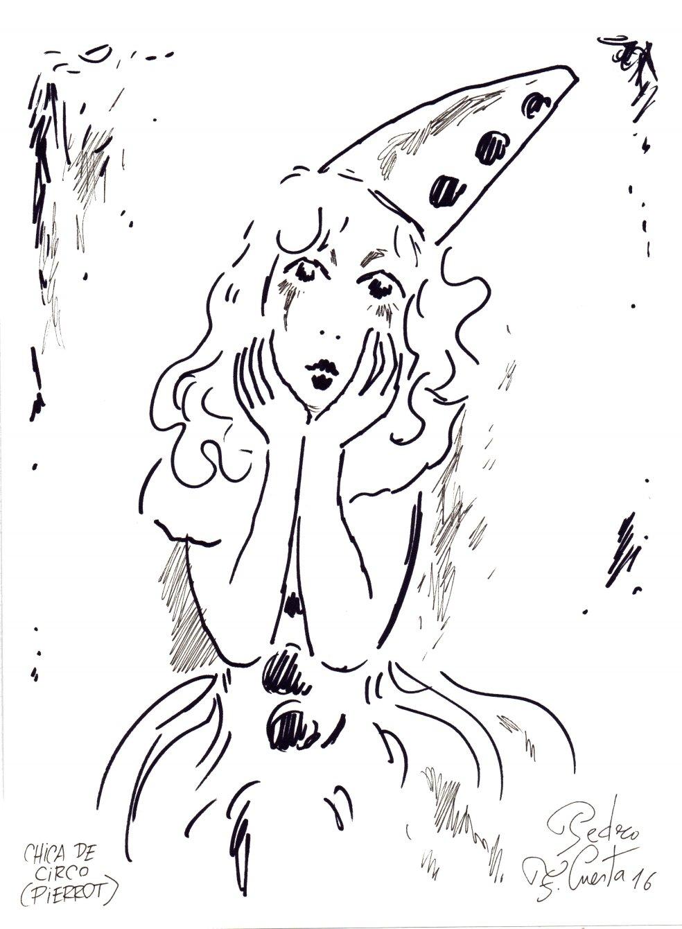Chica de circo (Pierrot)