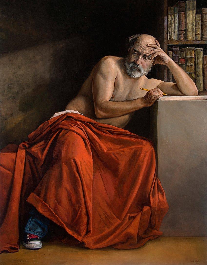 Autorretrato como San Jerónimo cuando era más viejo y más sabio (2015) - Darío Ortiz Robledo