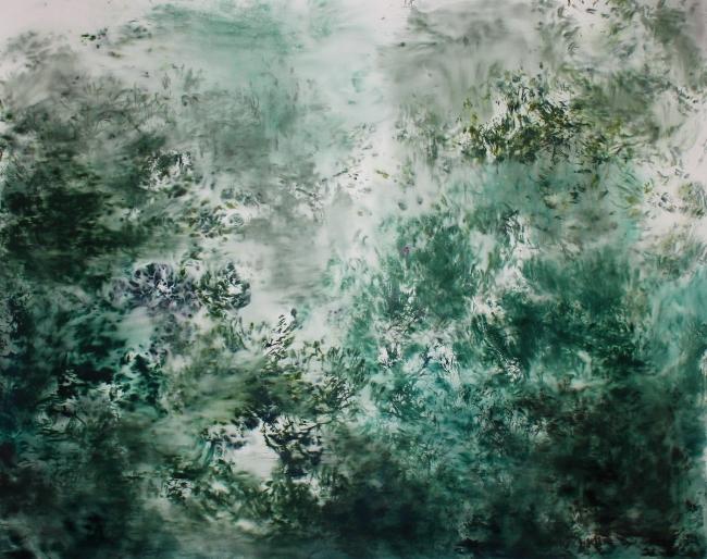 Forgotten Landscapes # 23, 2018, acuarela, 152 x 185 cm