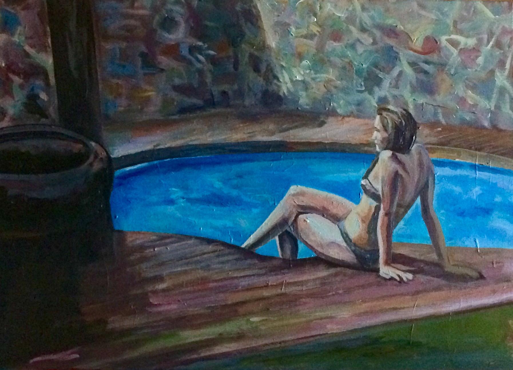 Chica en la piscina privada (2019) - J. Martos Latorre
