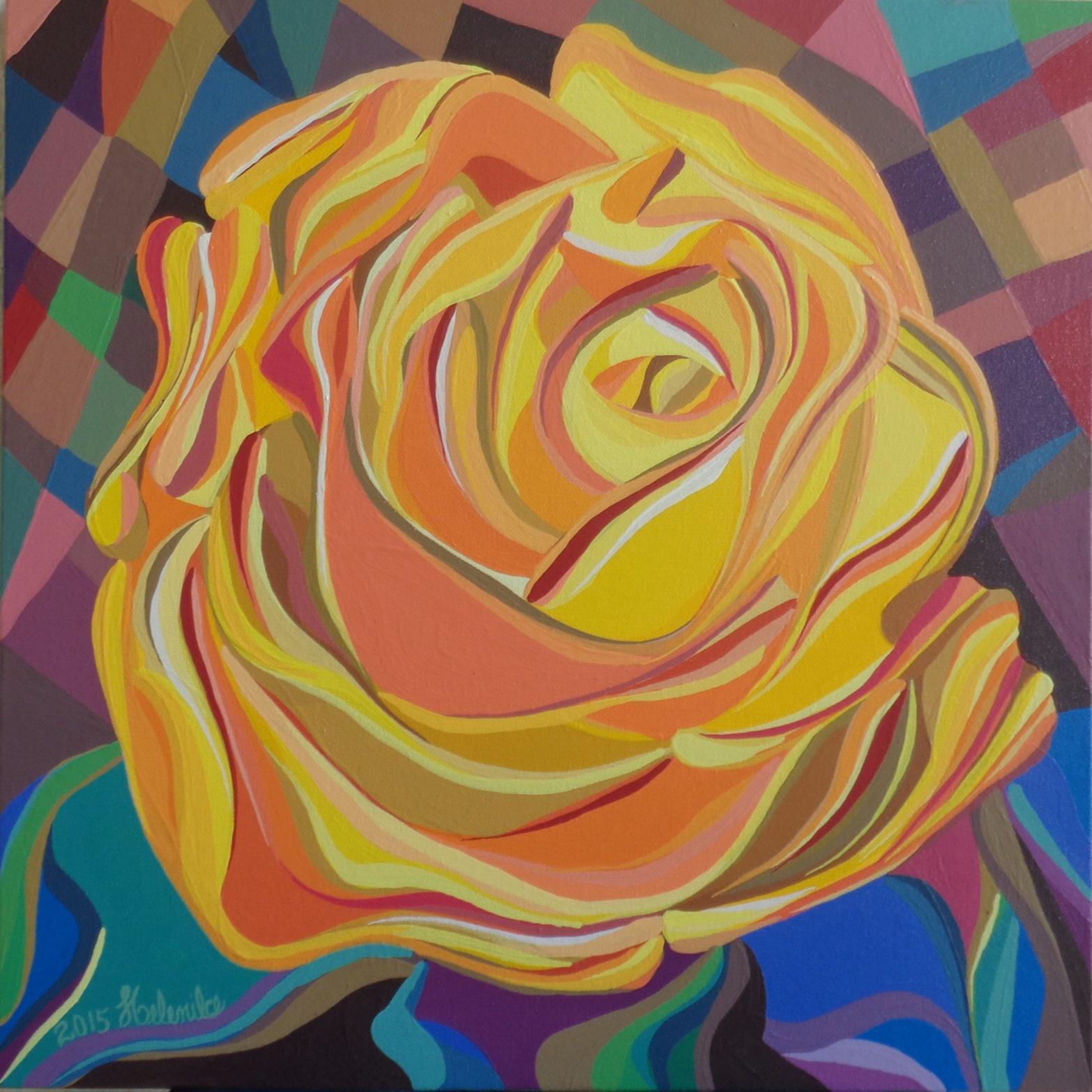 Flor em Mosaico