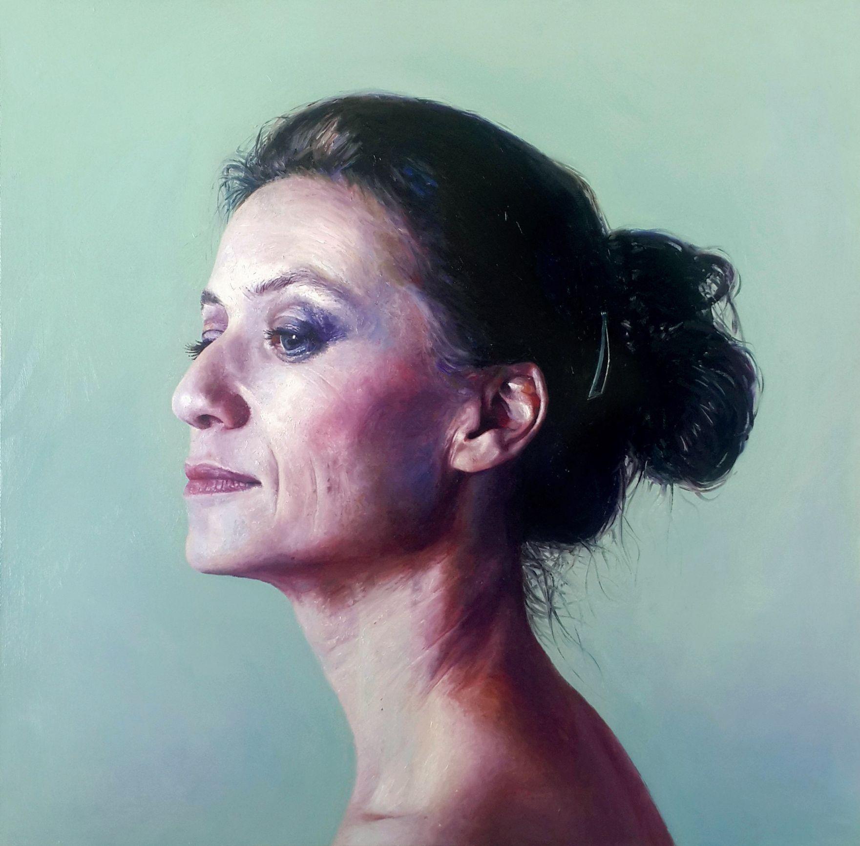 Mujer de cuello largo
