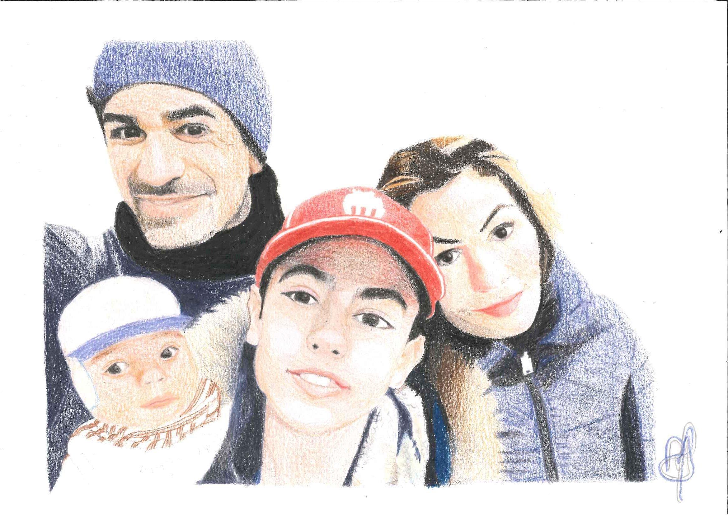 Retrato de Maury Lobina y su familia (2018) - Roberto Alba