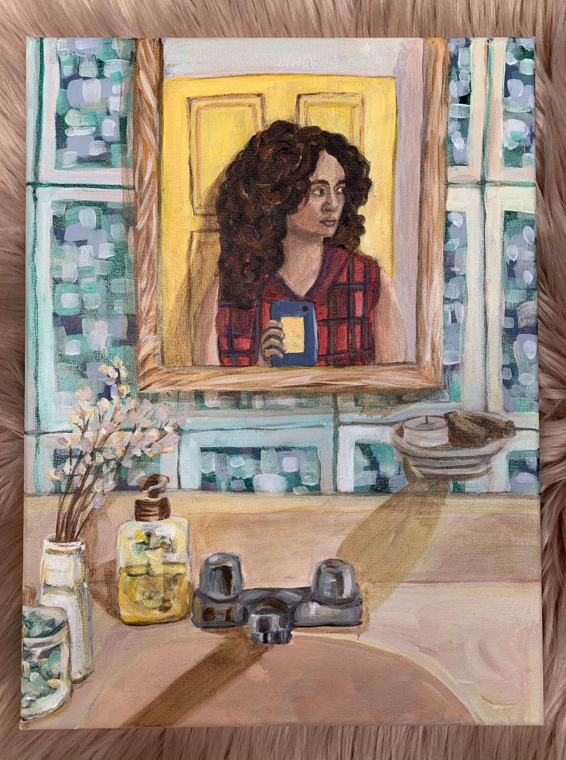 Autorretrato de pandemia (espejo) (2020) - Diana Gardeneira