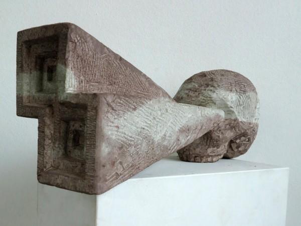 Stefan Rinck, Death Vision. Piedra arenisca 53x20x15 cm. 2015